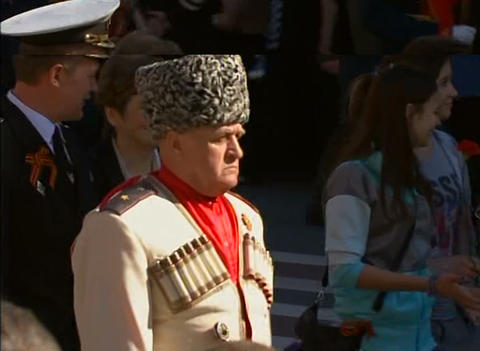 Kazak at the festive parade Stock Video Footage
