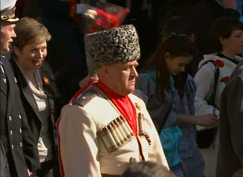 Kazak at the festive parade Stock Video Footage