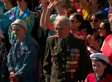 War veteran Stock Video Footage