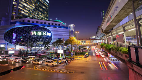 Timelapse - MBK Center at sunset - Bangkok Footage