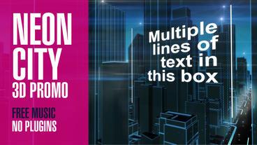 Neon City 3D Promo stock footage