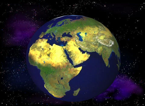 Artificial Satellites around the earth Animation