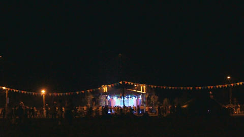 Divnogorsk Night Fest Stock Video Footage