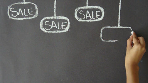 Sales Tags Background Stock Video Footage