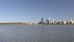 Wide Angle View of Perth City and the Swan River Footage
