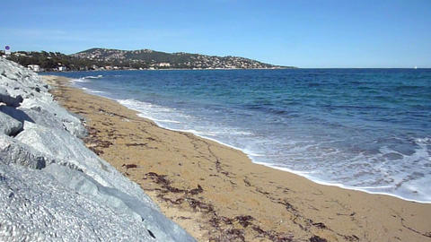 Beach, stones and sea Stock Video Footage