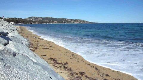 Beach, stones and sea Footage