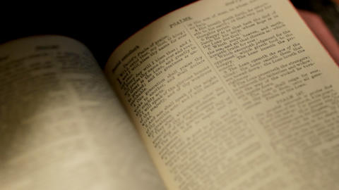 Pages of Bible Turning Stock Video Footage