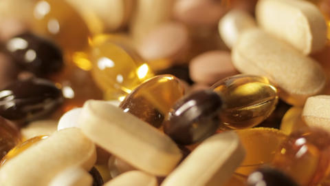 Vitamin pills Stock Video Footage