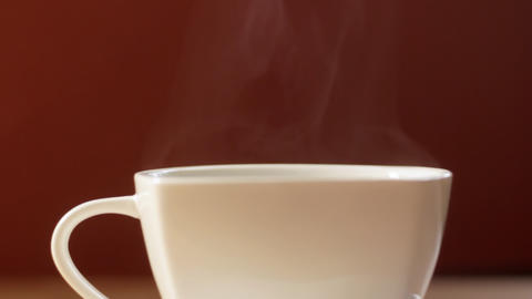 Steaming Coffee Cup Stock Video Footage