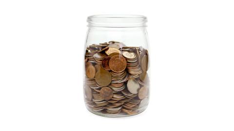 Savings jar stop motion Stock Video Footage