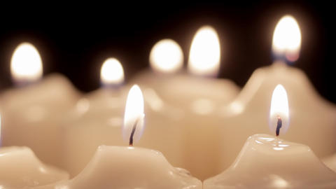 Moving Candles Stock Video Footage