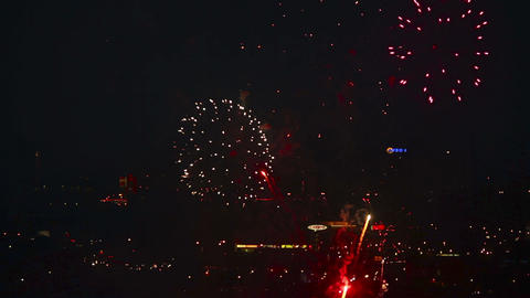Festive fireworks Stock Video Footage
