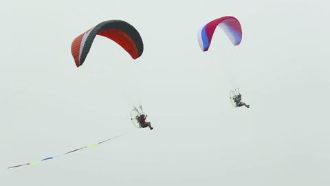 Powered paragliding Footage