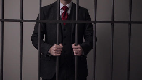 View of white collar criminal in prison Live Action