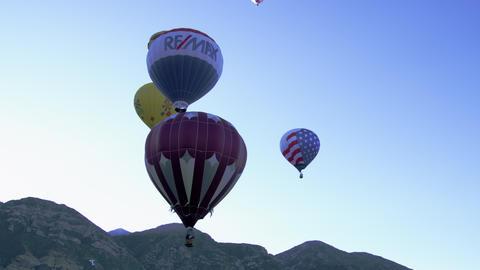 Variety of hot air balloons in Utah Footage