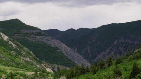 Valleys and mountainsides of Provo Canyon, Utah Footage