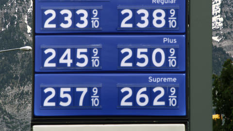 Gas price sign in Provo, Utah Footage