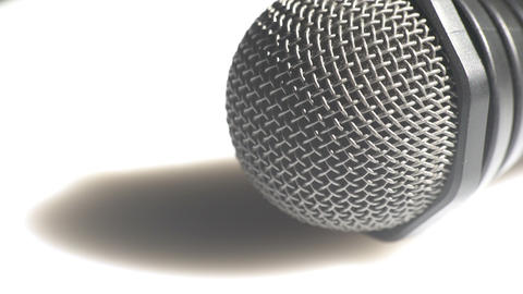 Detailed view of a handheld microphone Footage