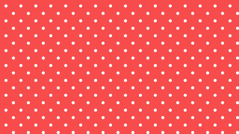Dot pattern WHT Bg RED 10sec loop CG動画