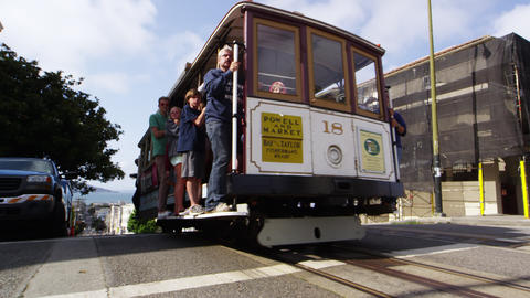 San Francisco Trolley / Cable Car Footage
