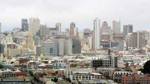Cityscape pan of San Francisco Footage