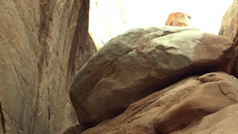 High walls of sandstone fins Footage