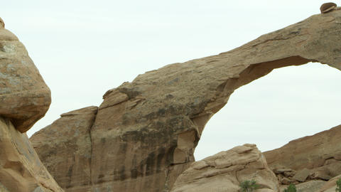 Panning shot of Skyline Arch Live Action