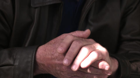Up close view of man rubbing hands together Footage