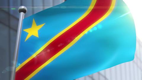 Waving flag of Democratic Republic of Congo Animation Animation