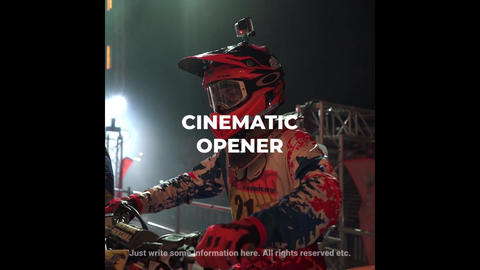 Dynamic Cinematic Opener For Instagram Premiere Proテンプレート