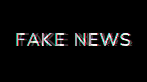 From the Glitch effect arises common expression FAKE NEWS. Then the TV turns off. Alpha channel Animation