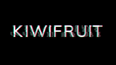 From the Glitch effect arises fruit KIWIFRUIT. Then the TV turns off. Alpha channel Premultiplied - Animation