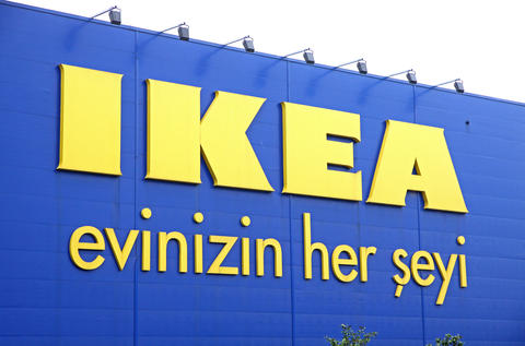 Logo of IKEA store in Istanbul Photo