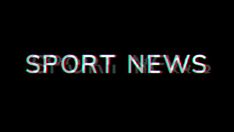 From the Glitch effect arises common expression SPORT NEWS. Then the TV turns off. Alpha channel Animation