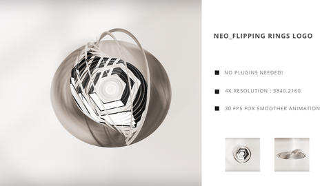 Neo Flipping Rings Logo After Effects Template