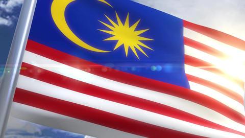 Waving flag of Malaysia Animation Animation