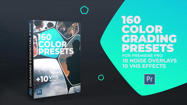 160 Color Grading and 10 VHS Presets for Premiere Pro Premiere Pro Template