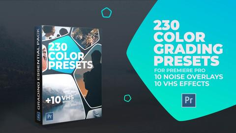 230 Color Grading and 10 VHS Presets for Premiere Pro Premiere Proテンプレート