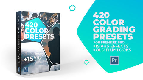 620 Color Grading and 15 VHS Presets for Premiere Pro Premiere Pro Template