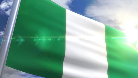 Waving flag of Nigeria Animation Animation