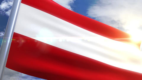 Waving flag of Austria Animation Animation