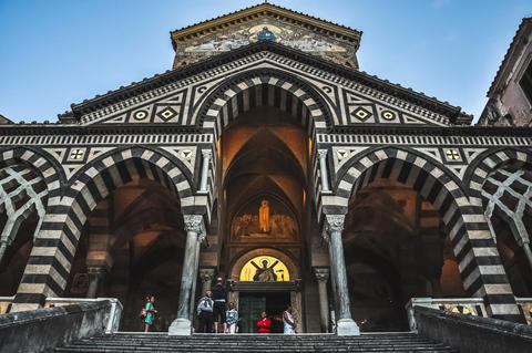 Entrance of the Amalfi cathedral Photo