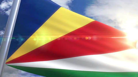 Waving flag of Seychelles Animation Animation