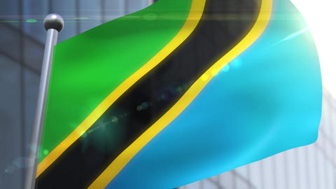 Waving flag of Tanzania Animation Animation