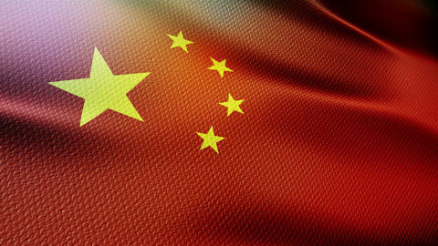 China Flag Stock Video Footage
