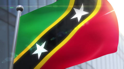 Waving flag of St. Kitts and Nevis Animation Animation