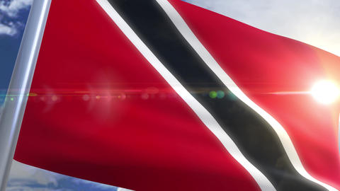 Waving flag of Trinidad and Tobago Animation Animation