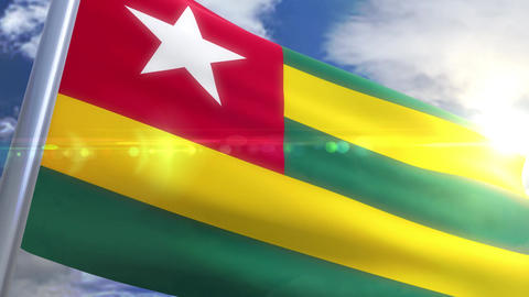 Waving flag of Togo Animation Animation