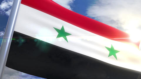 Waving flag of Syria Animation Animation
